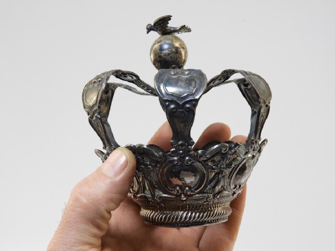19C. Portuguese Silver Crown & Paten - 8