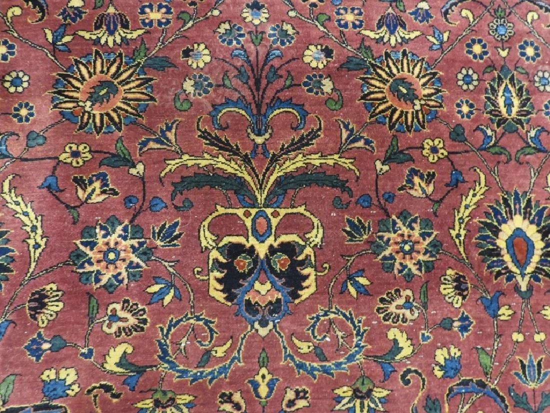 Antique Persian Keshan Carpet Rug - 6