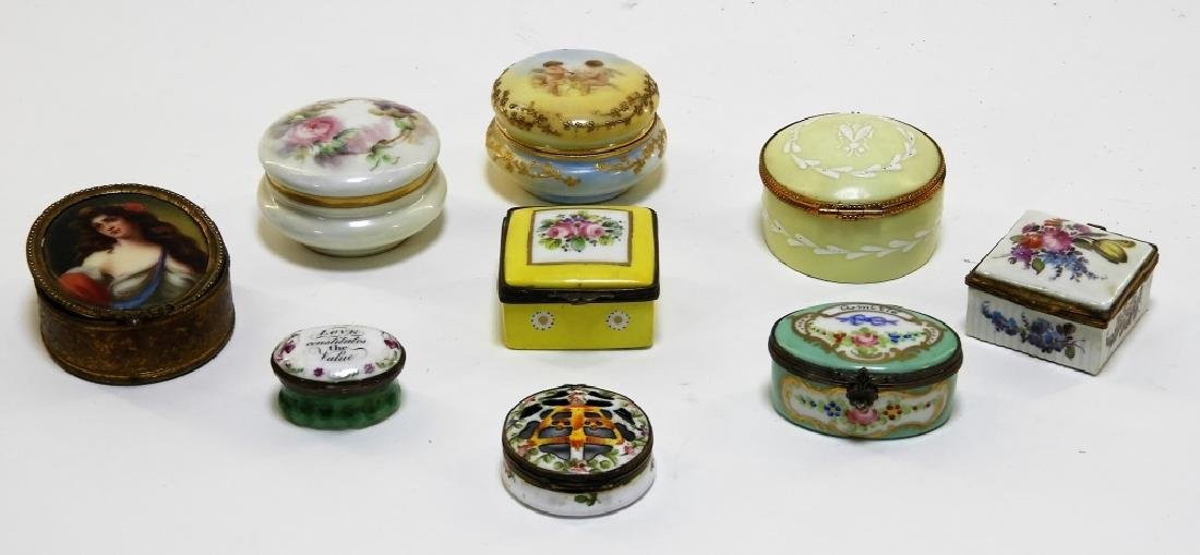 9PC French Miniature Limoges Sevres Porcelain Box