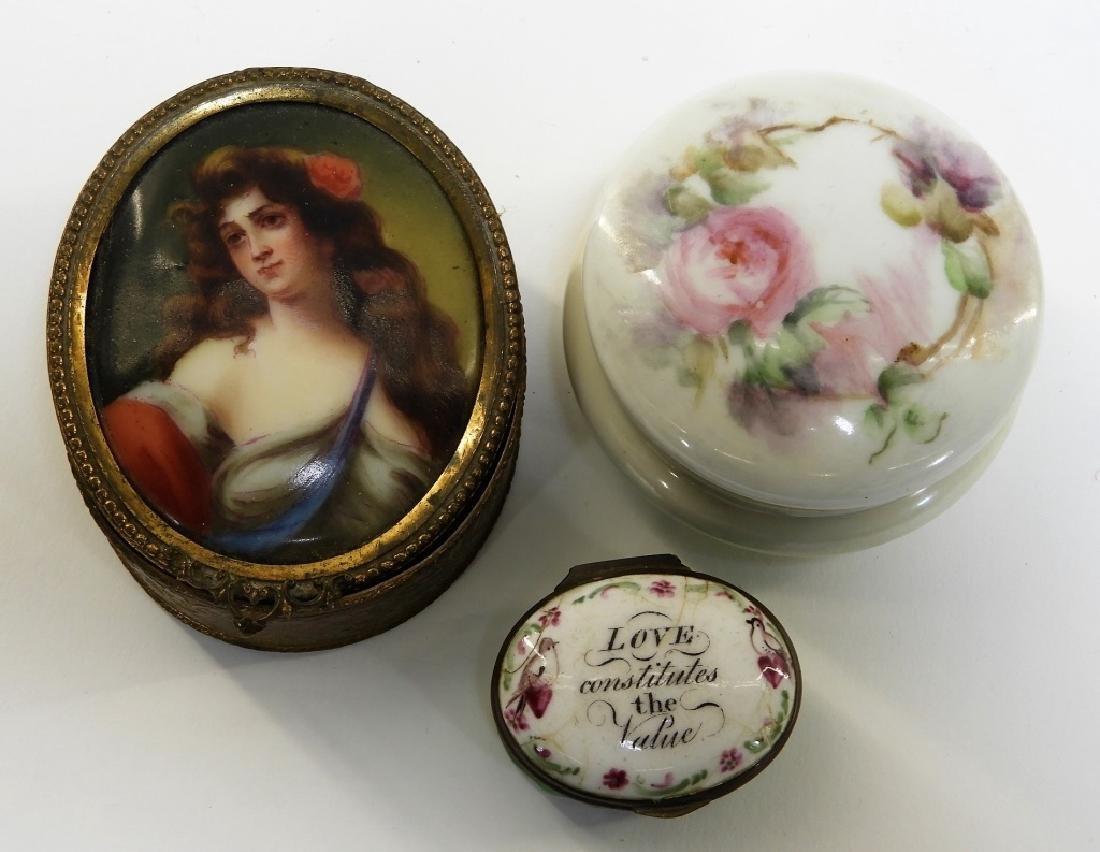 9PC French Miniature Limoges Sevres Porcelain Box - 2