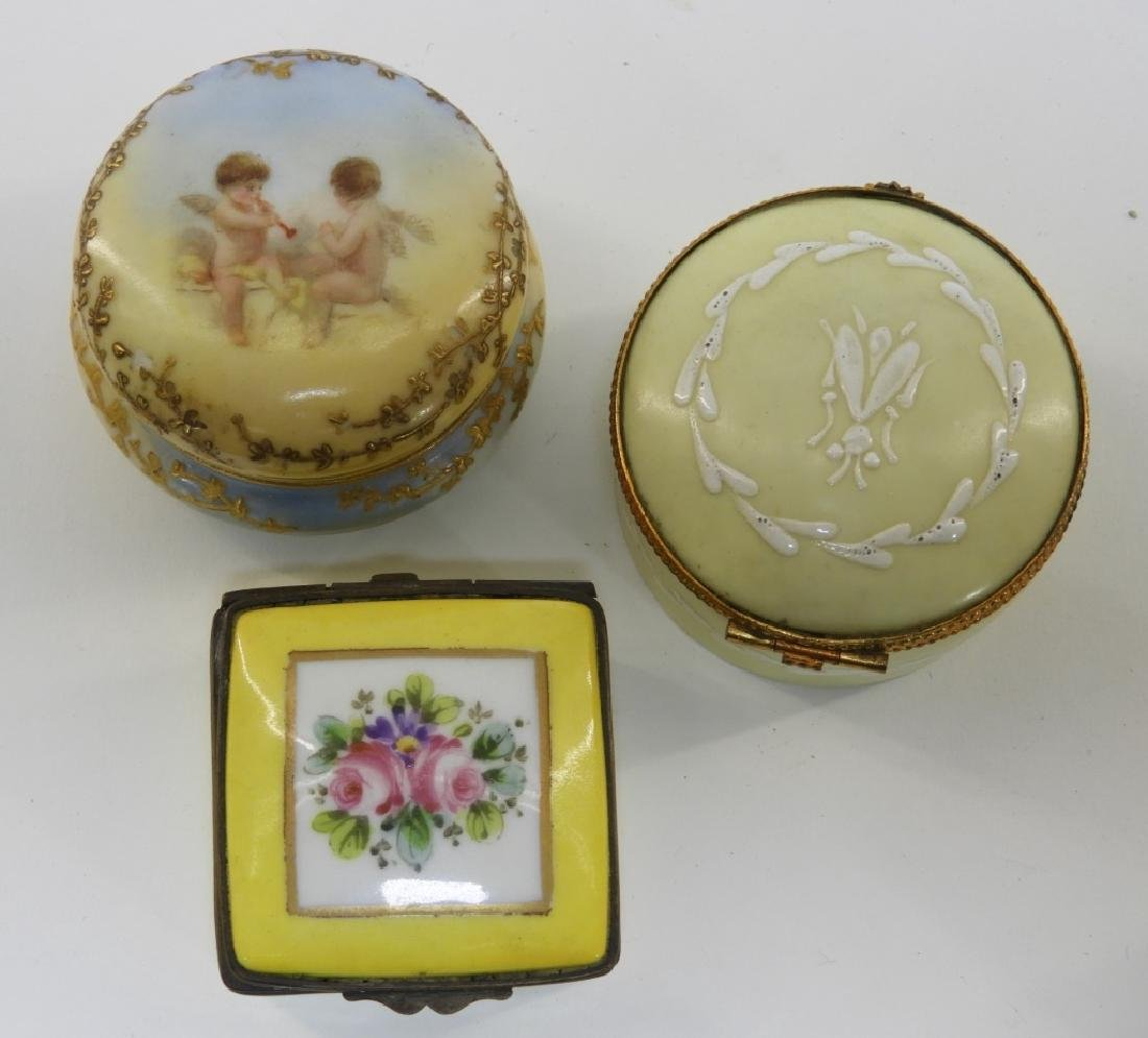 9PC French Miniature Limoges Sevres Porcelain Box - 3