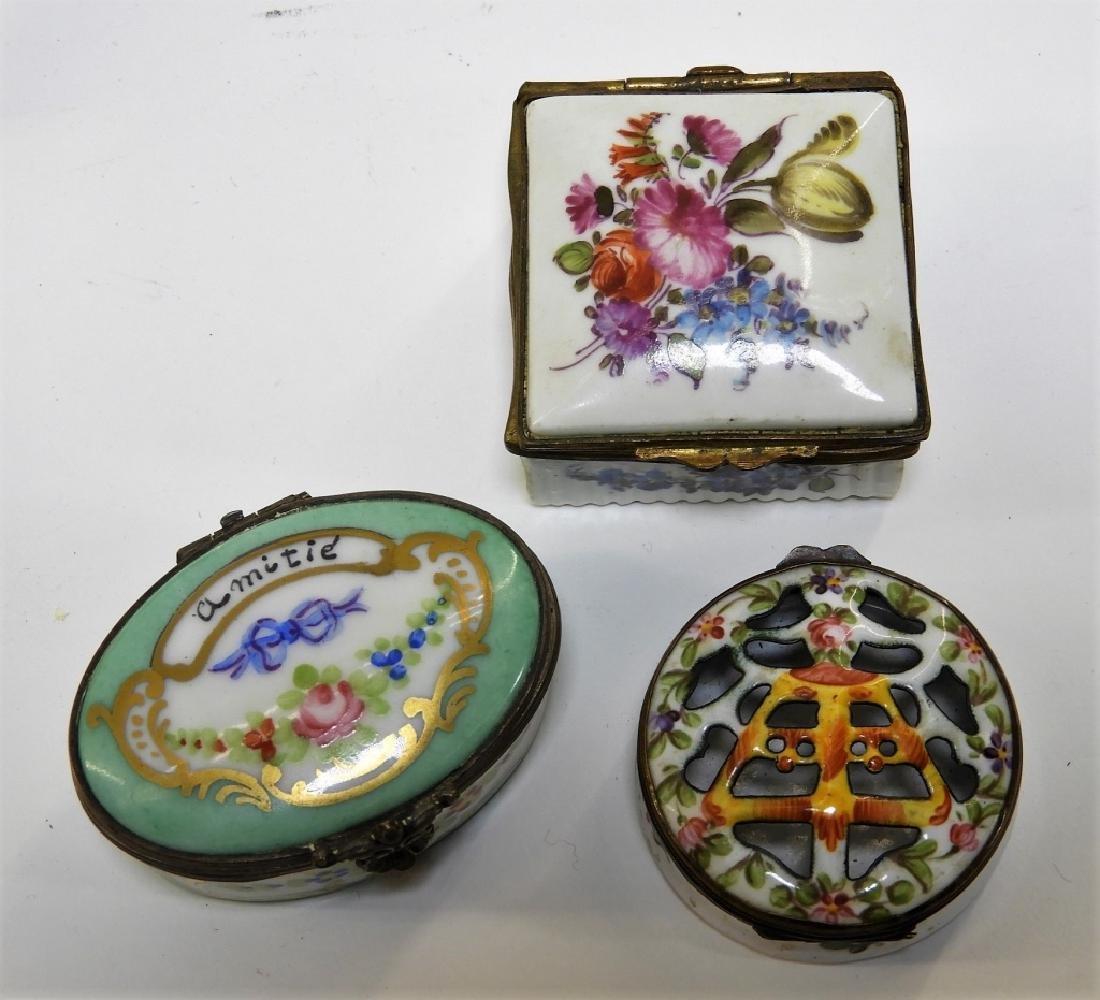 9PC French Miniature Limoges Sevres Porcelain Box - 4