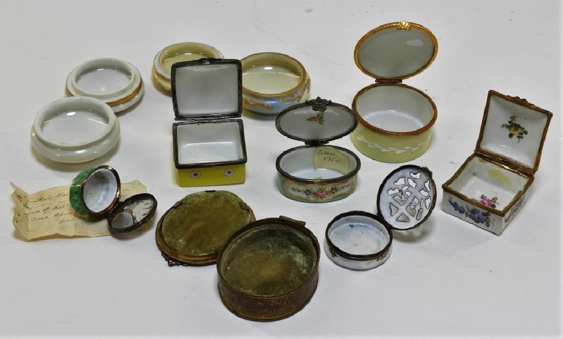 9PC French Miniature Limoges Sevres Porcelain Box - 5
