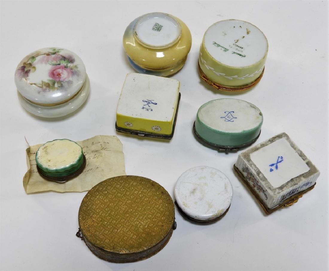 9PC French Miniature Limoges Sevres Porcelain Box - 6
