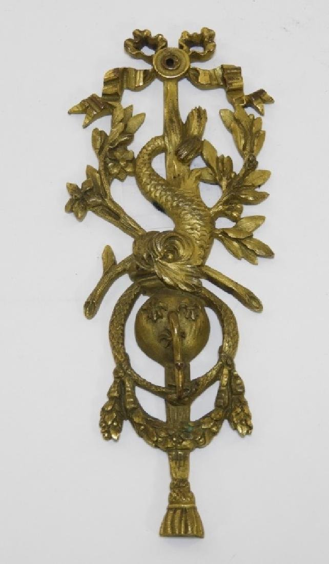 19C. French Classical Bronze Pocket Watch Hanger