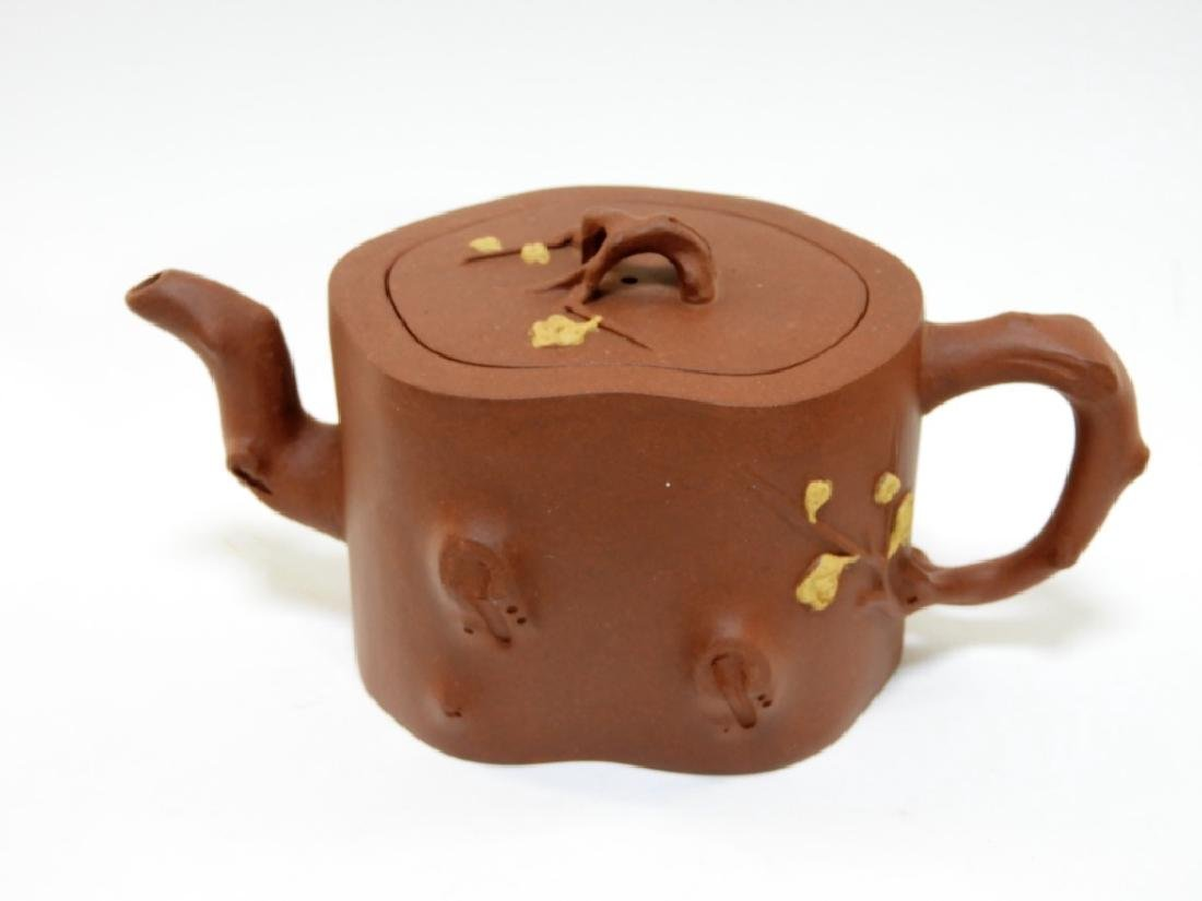 Chinese Yixing Purple Clay Pottery Teapot Set - 2