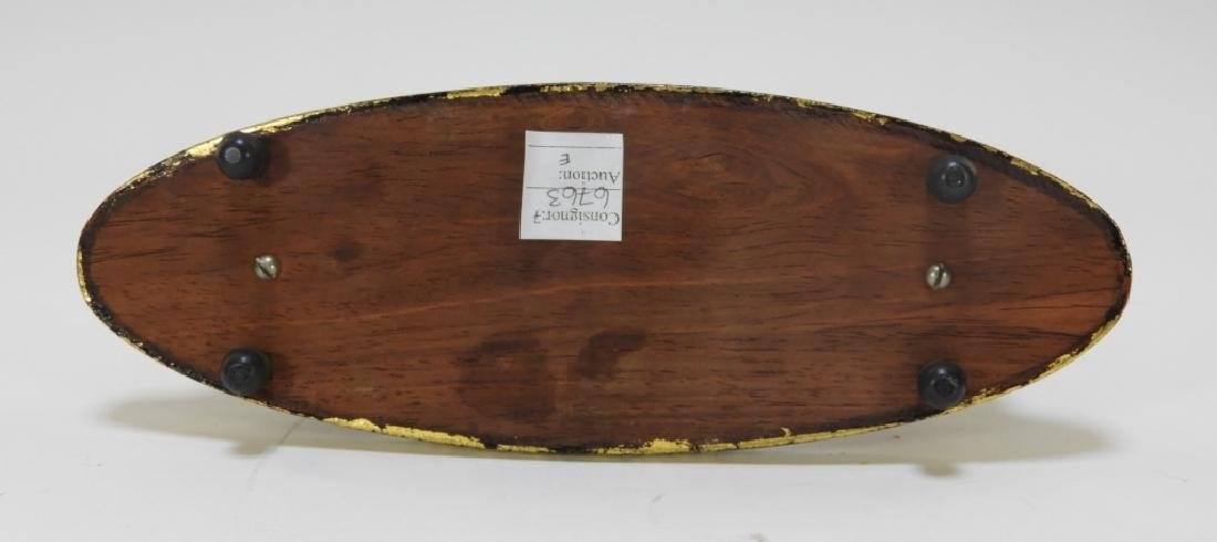 Thai Lacquer Horn Carved Miniature Table Gong - 8