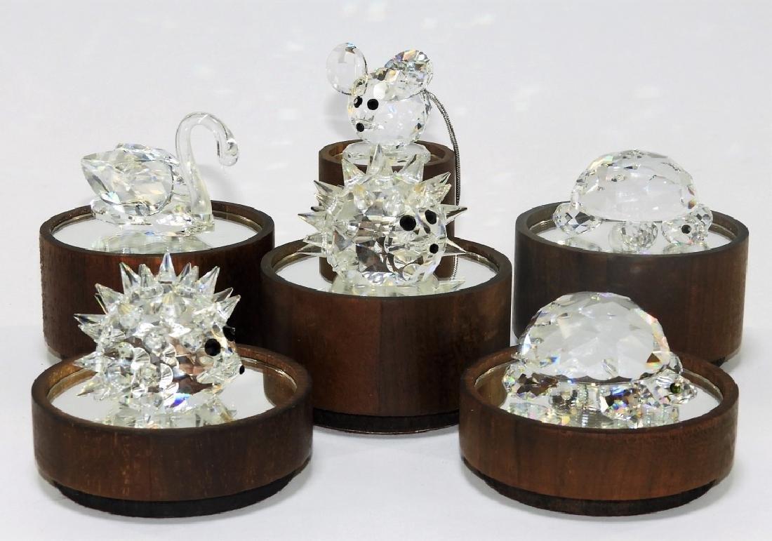 Group 6 Austrian Swarovski Crystal Figures