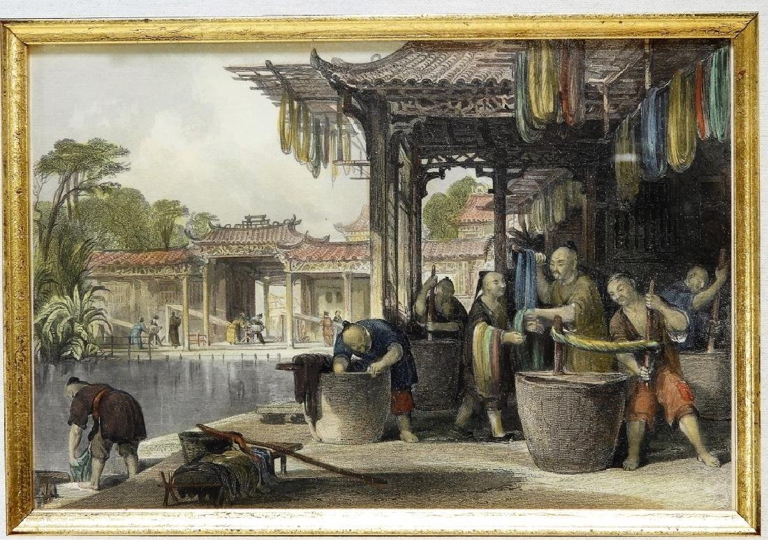 6 Thomas Allen Chinese Hand Colored Etchings - 5