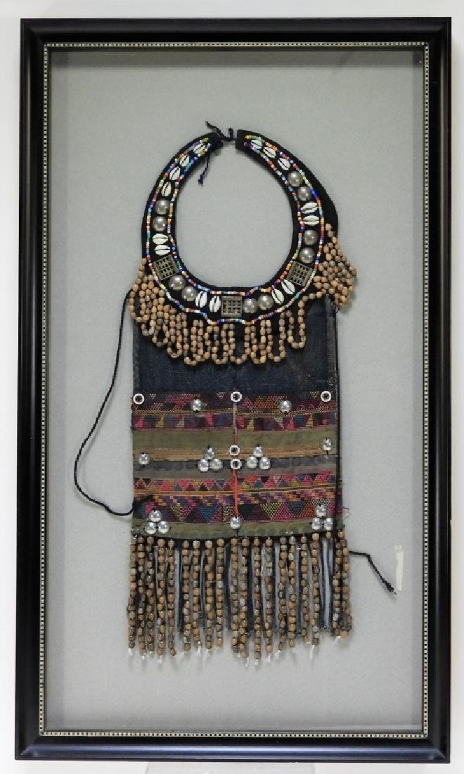 Indian Bhopa Cowrie Shell Embroidered Collar