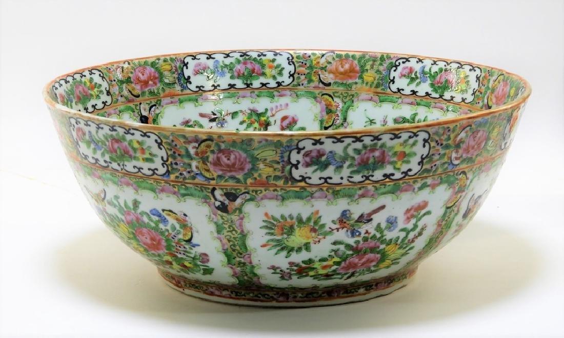 LG Chinese Export Rose Medallion Porcelain Bowl