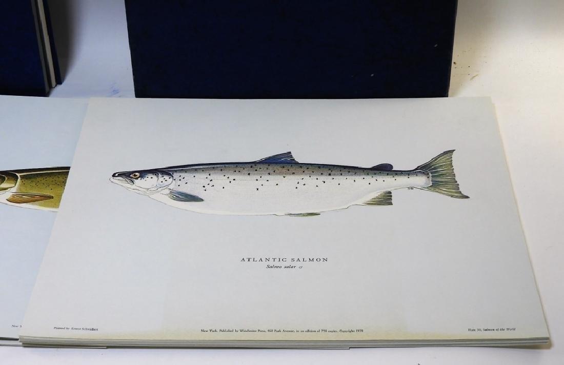 Ernest Schwiebert Salmon of the World Book Plates - 2