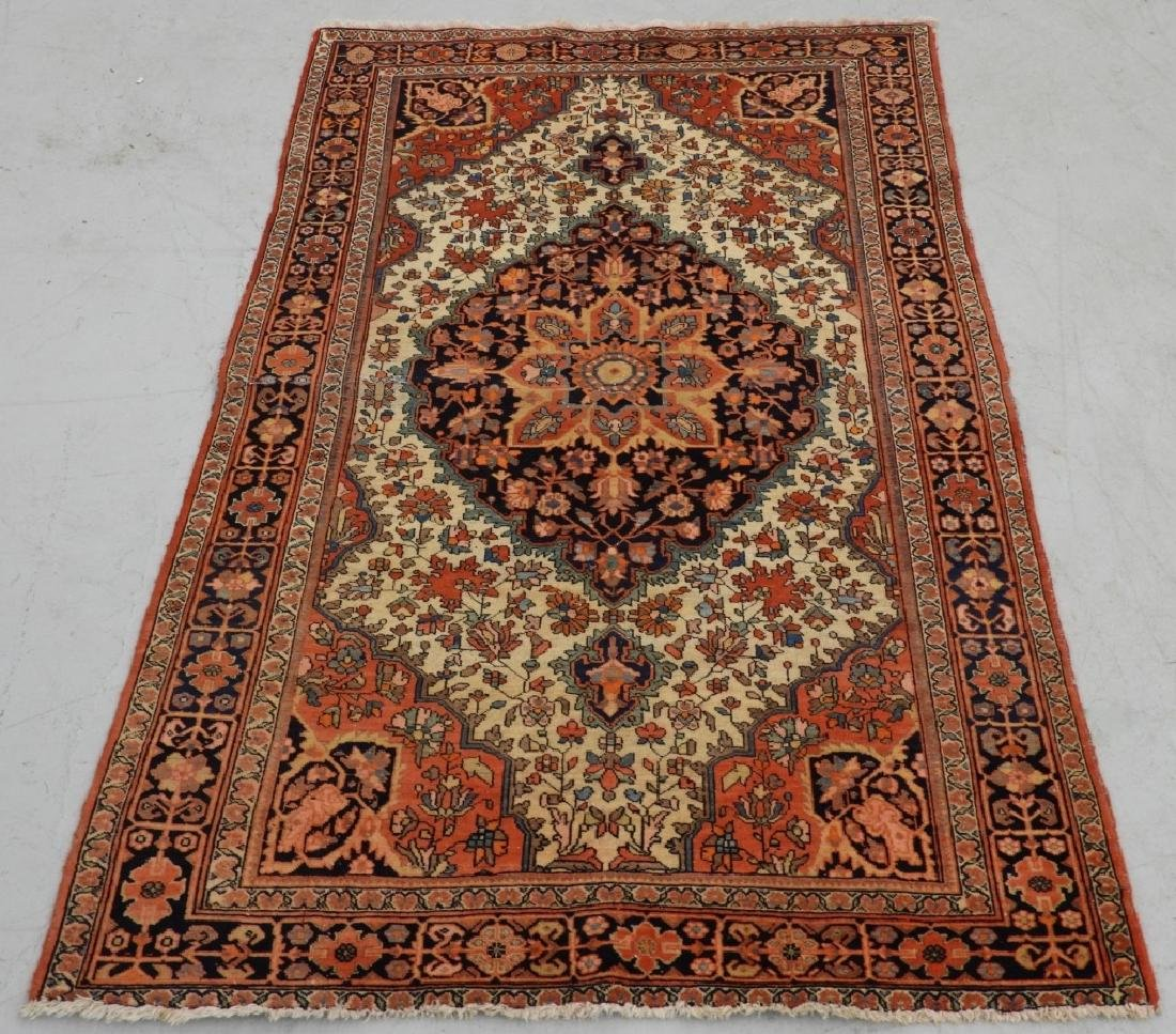 Antique Persian Fereghan Sarouk Carpet Rug