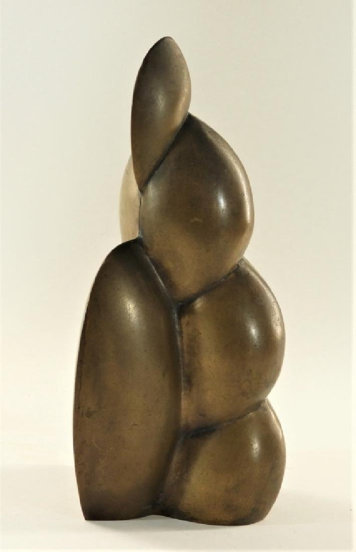 European MCM Modernist Abstract Bronze Sculpture