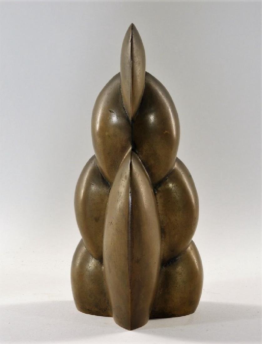 European MCM Modernist Abstract Bronze Sculpture - 2