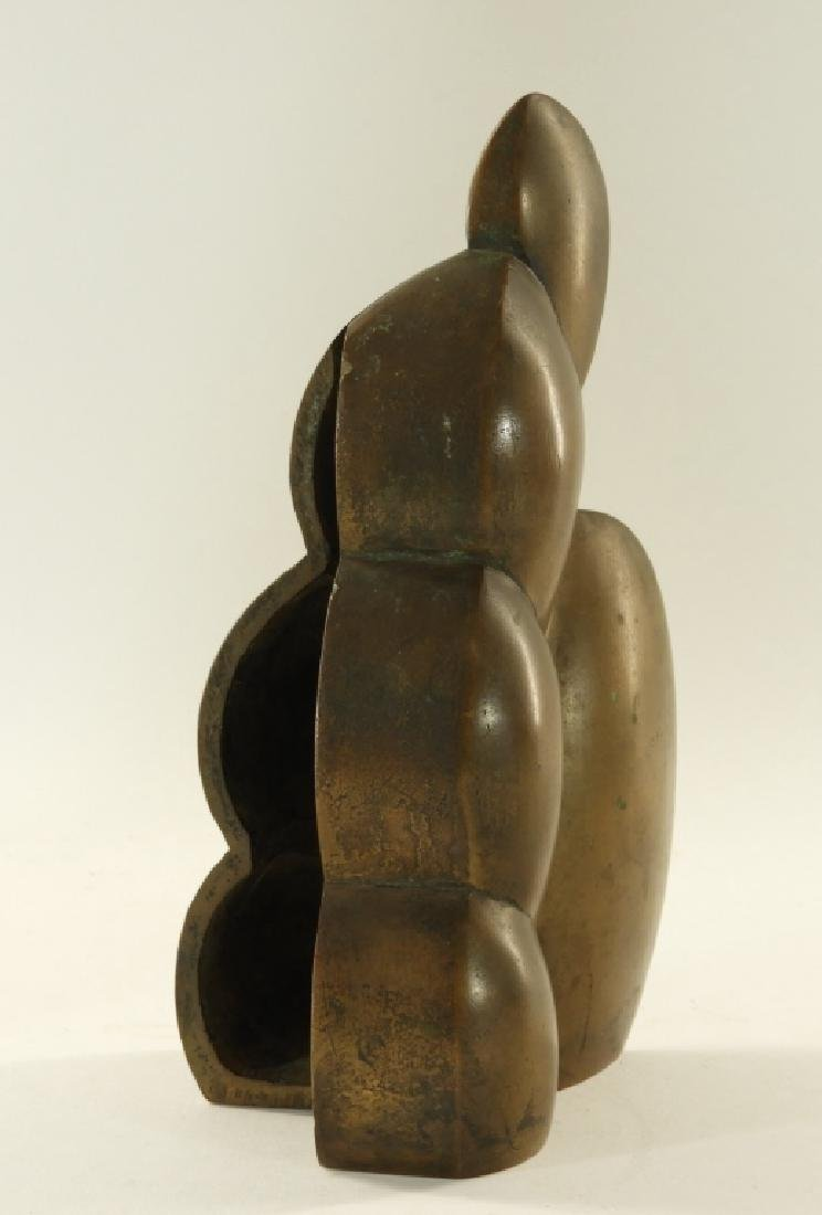 European MCM Modernist Abstract Bronze Sculpture - 3