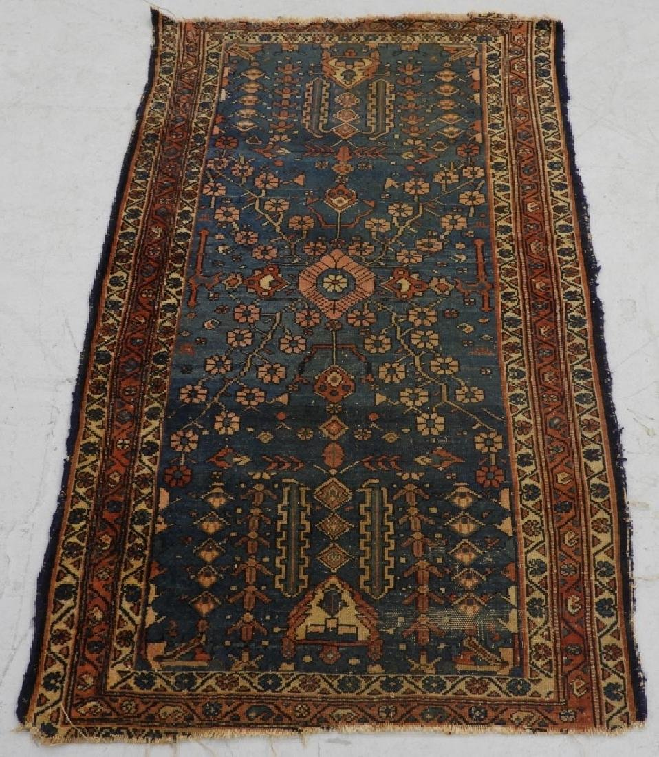 Antique Persian Oriental Wool Carpet Rug