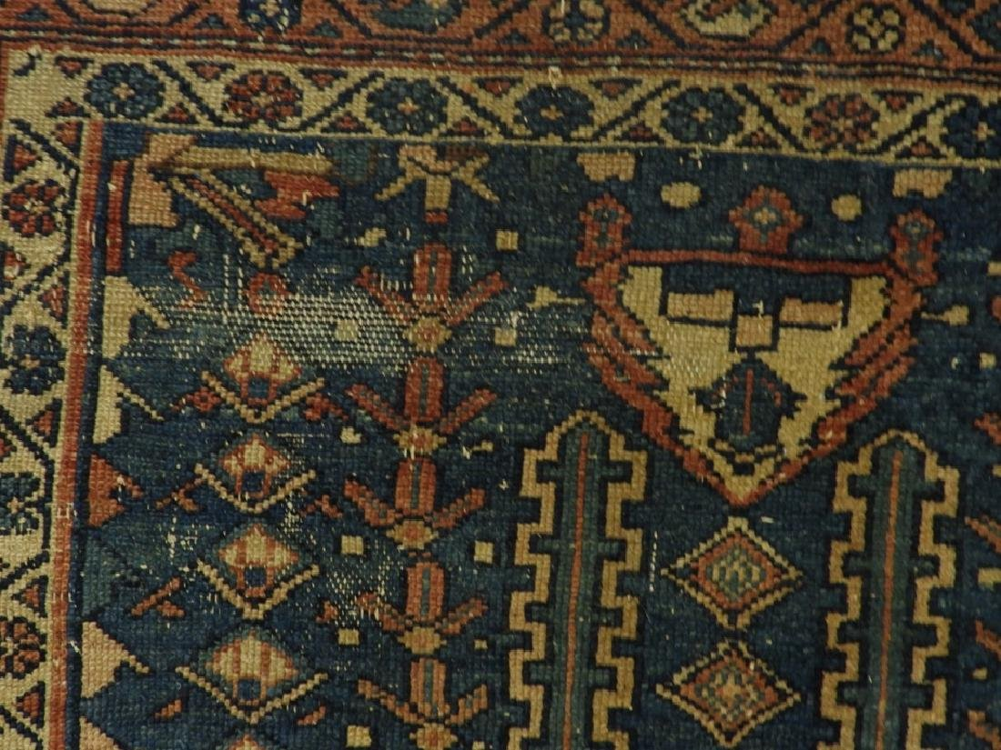 Antique Persian Oriental Wool Carpet Rug - 6