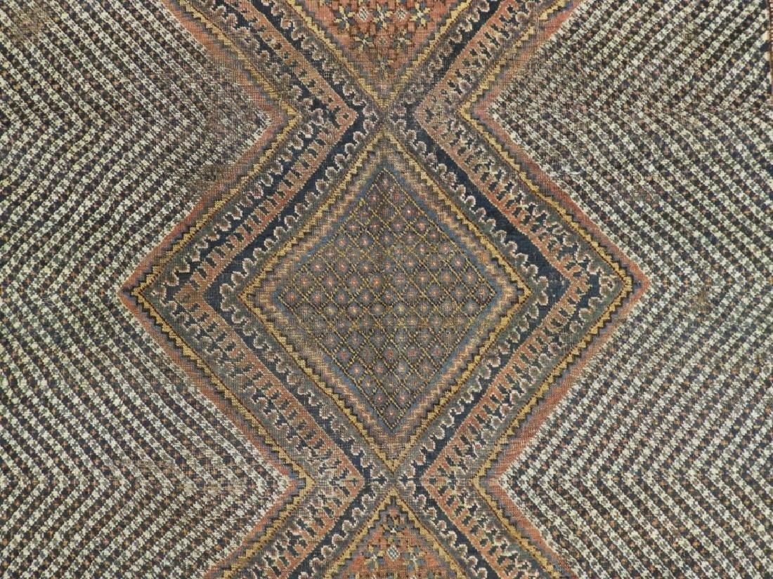 Antique Persian Afghan Wool Carpet Rug - 2