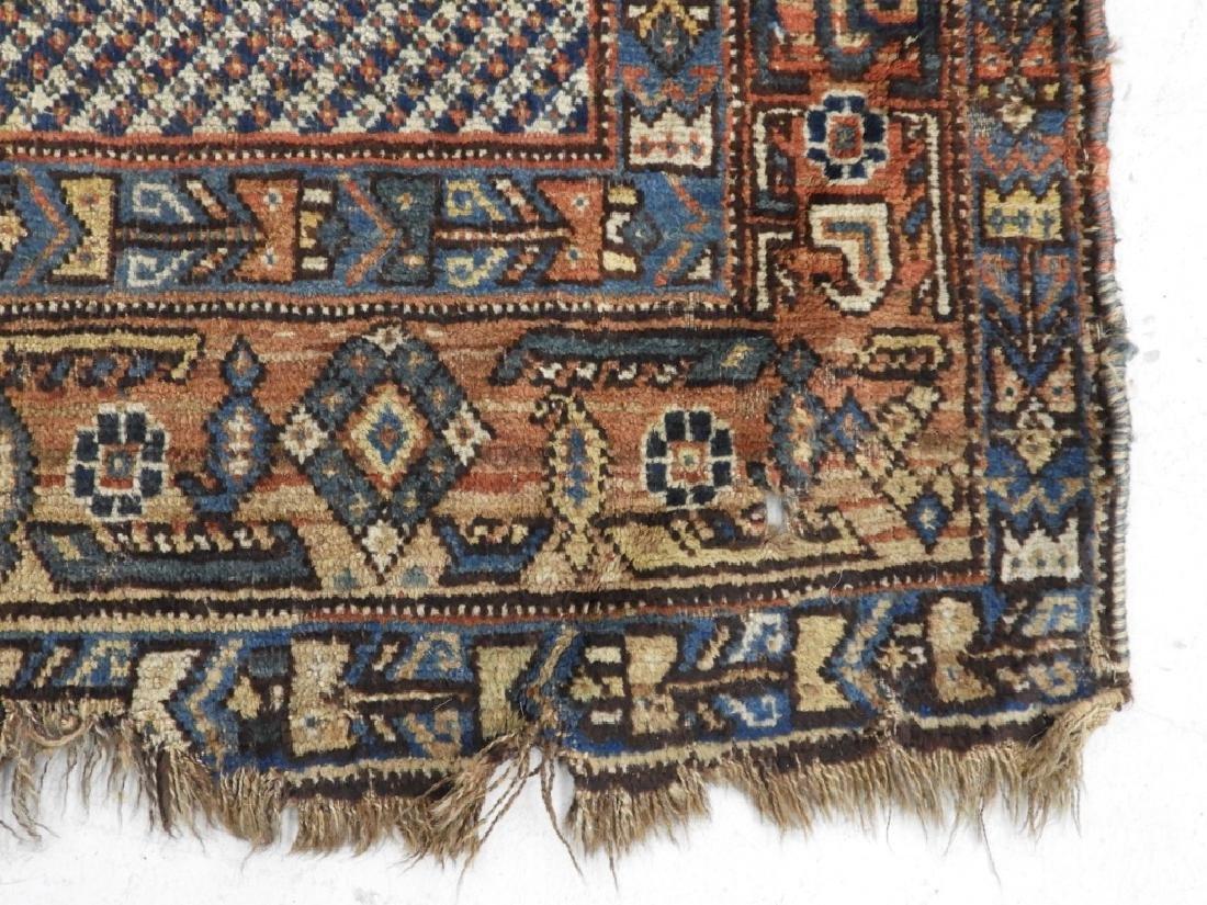 Antique Persian Afghan Wool Carpet Rug - 5