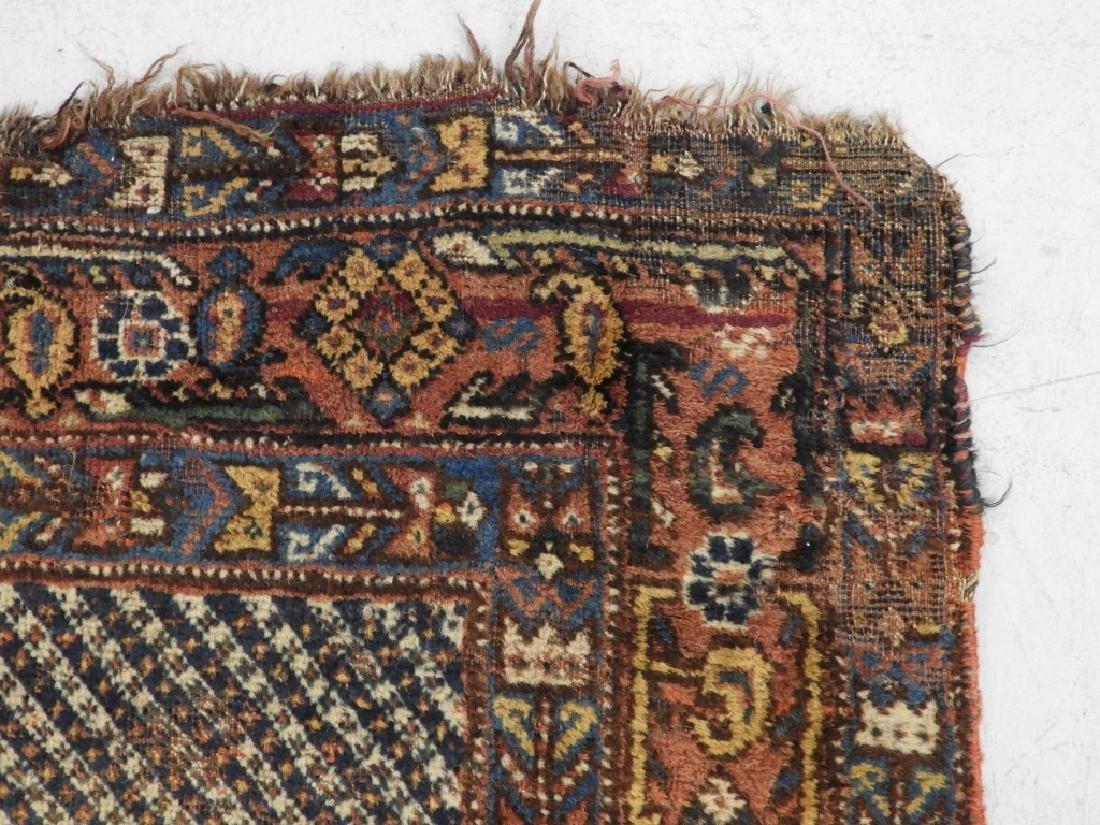 Antique Persian Afghan Wool Carpet Rug - 7