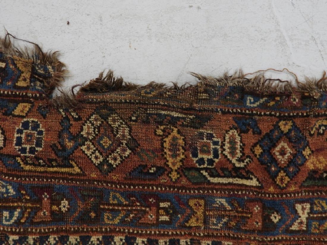 Antique Persian Afghan Wool Carpet Rug - 8