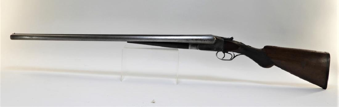 Ithaca Double Barrel Hammerless Damascus Shotgun