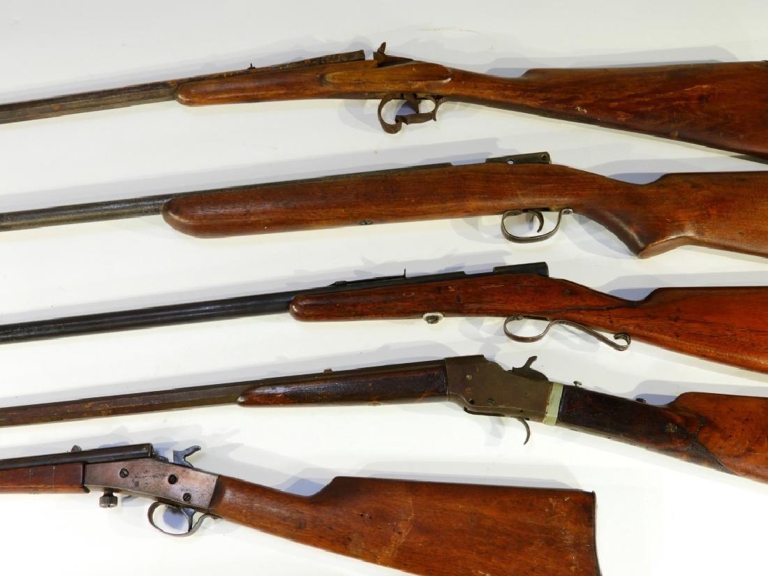 5 Antique 22 Caliber Rifles w/ Extra Stock - 2