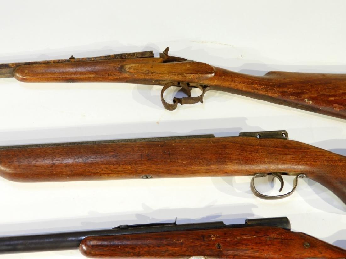 5 Antique 22 Caliber Rifles w/ Extra Stock - 3