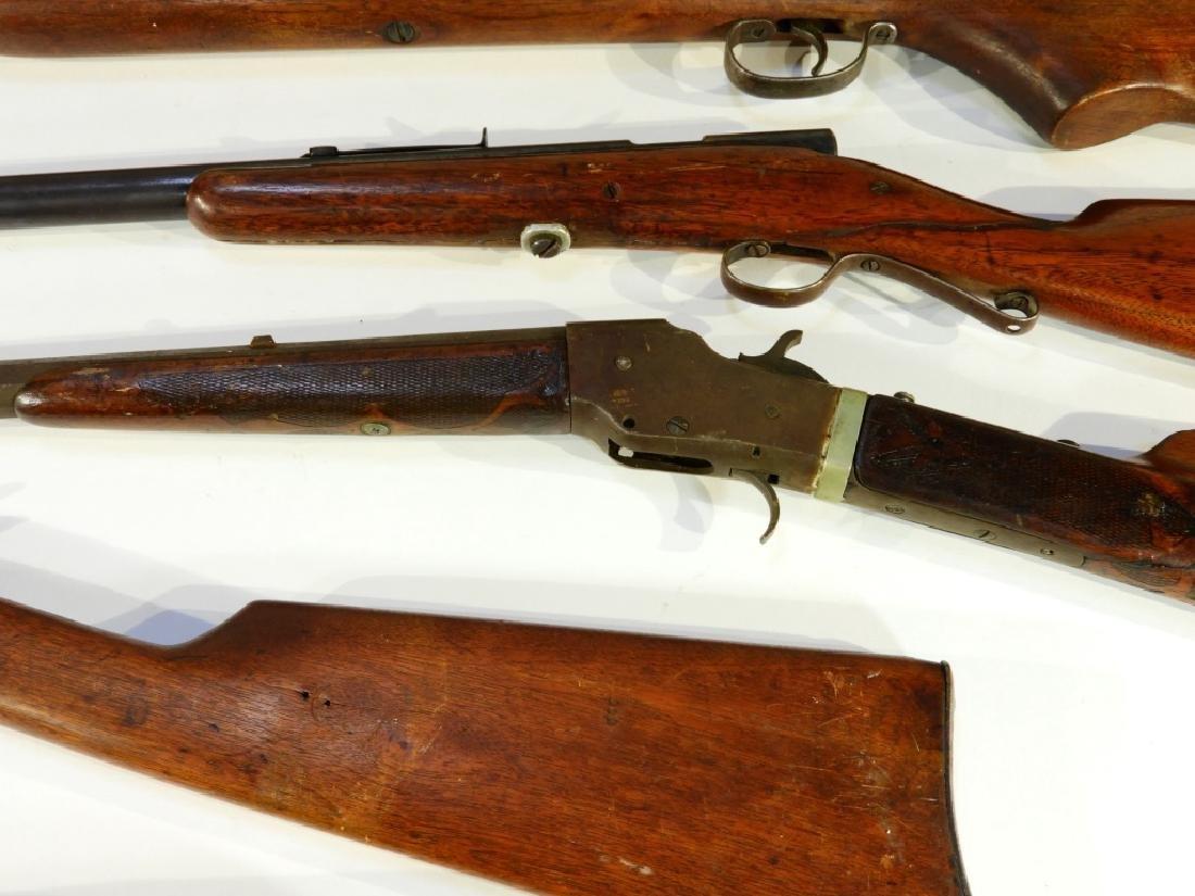 5 Antique 22 Caliber Rifles w/ Extra Stock - 4
