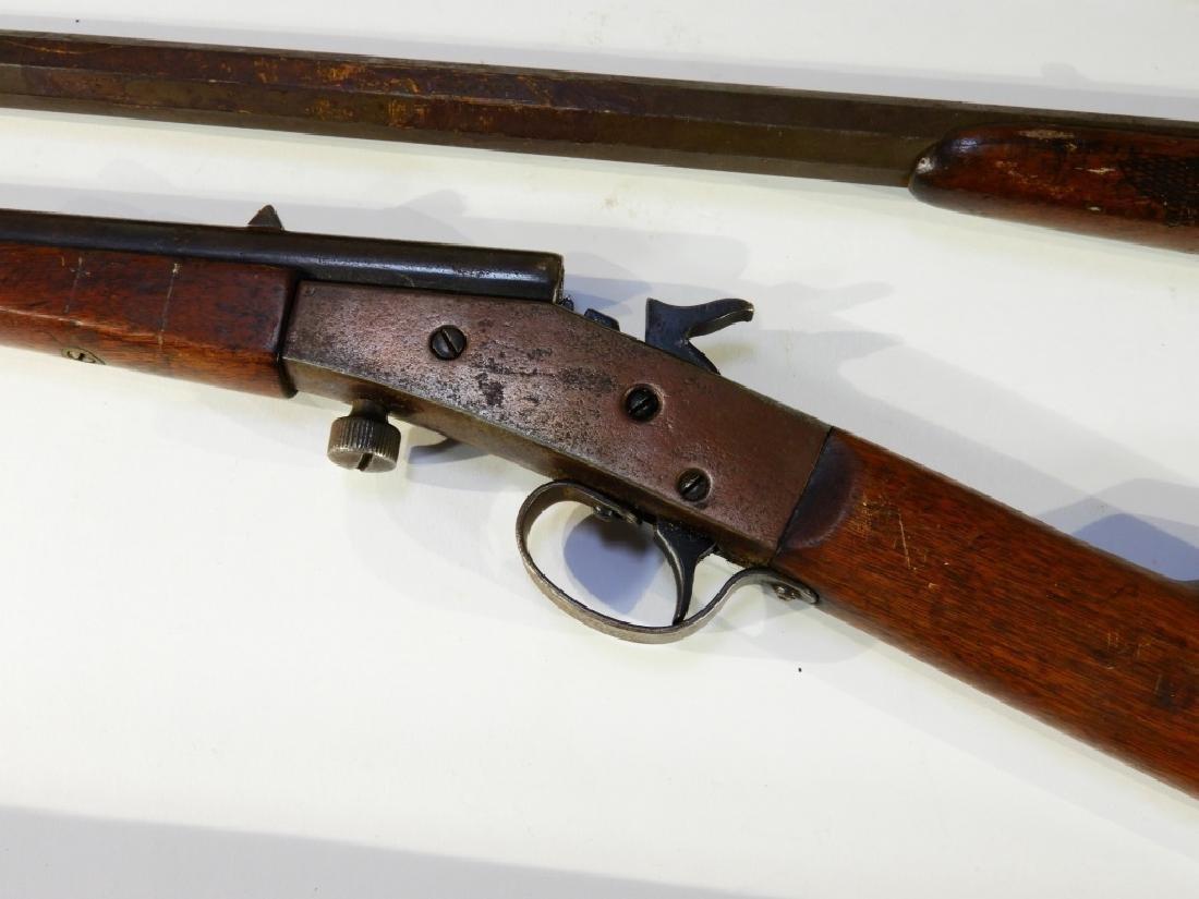 5 Antique 22 Caliber Rifles w/ Extra Stock - 5