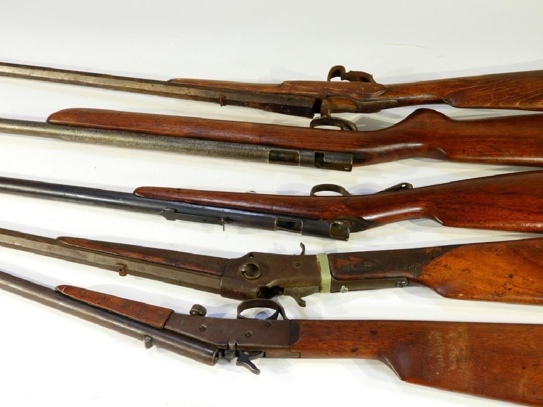 5 Antique 22 Caliber Rifles w/ Extra Stock - 6