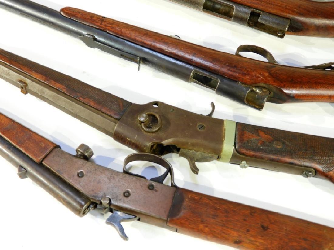 5 Antique 22 Caliber Rifles w/ Extra Stock - 7