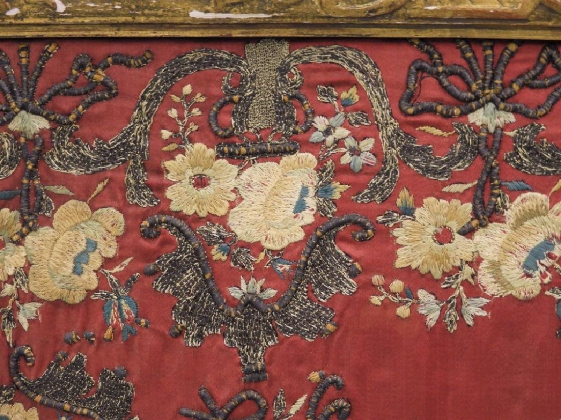 FINE 18C French Louis XVI Gilt Chinese Silk Screen - 8