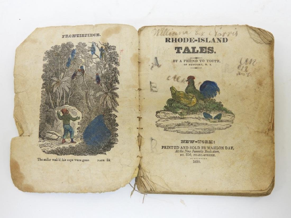 C.1830 Rhode Island Tales Hand Colored Chapbook