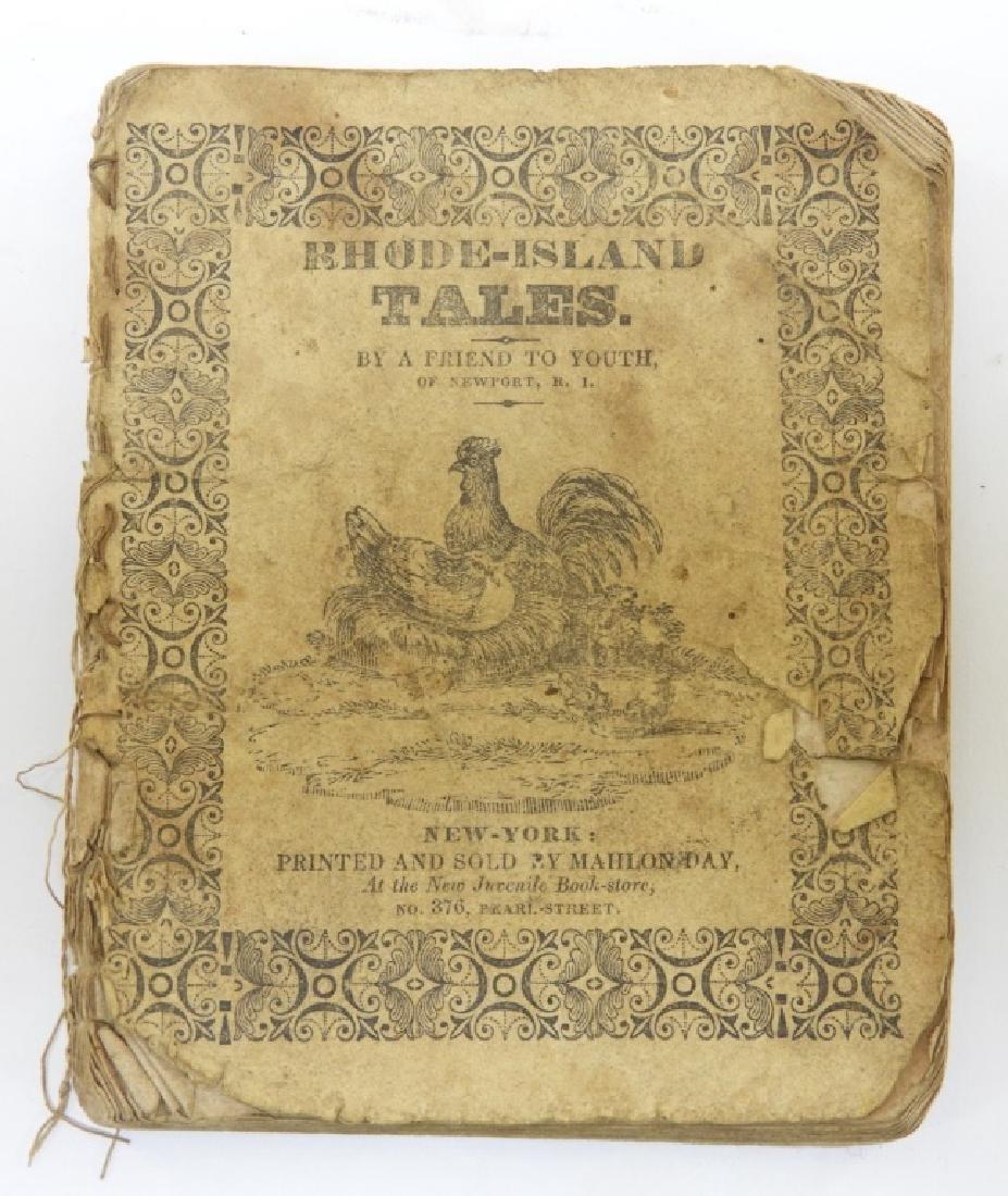 C.1830 Rhode Island Tales Hand Colored Chapbook - 2