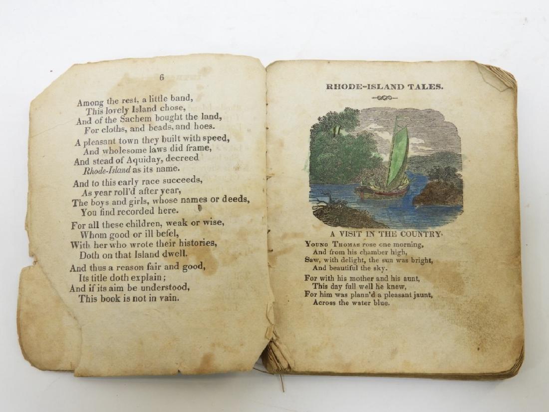 C.1830 Rhode Island Tales Hand Colored Chapbook - 4