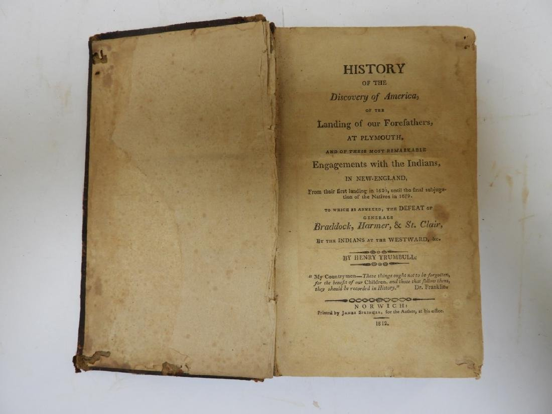 C.1812 Henry Trumbull Discovery of America Book