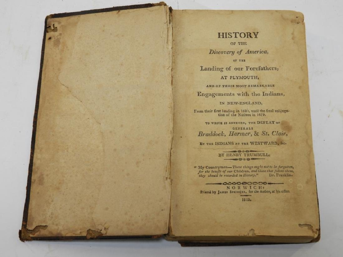 C.1812 Henry Trumbull Discovery of America Book - 2