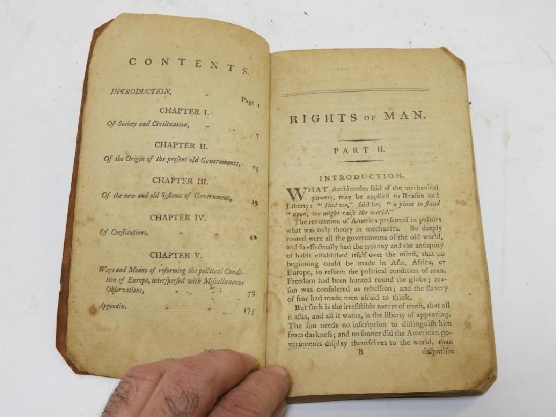 C.1792 Thomas Paine Rights of Man Leather Book