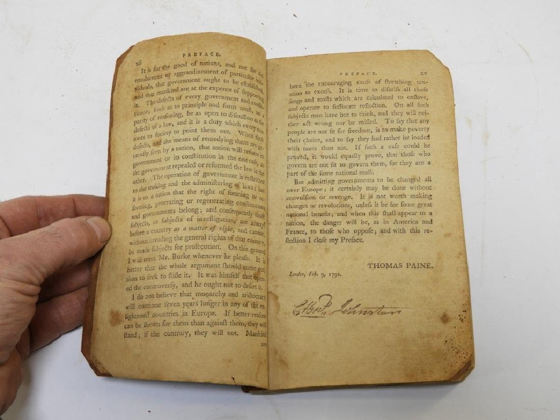 C.1792 Thomas Paine Rights of Man Leather Book - 2