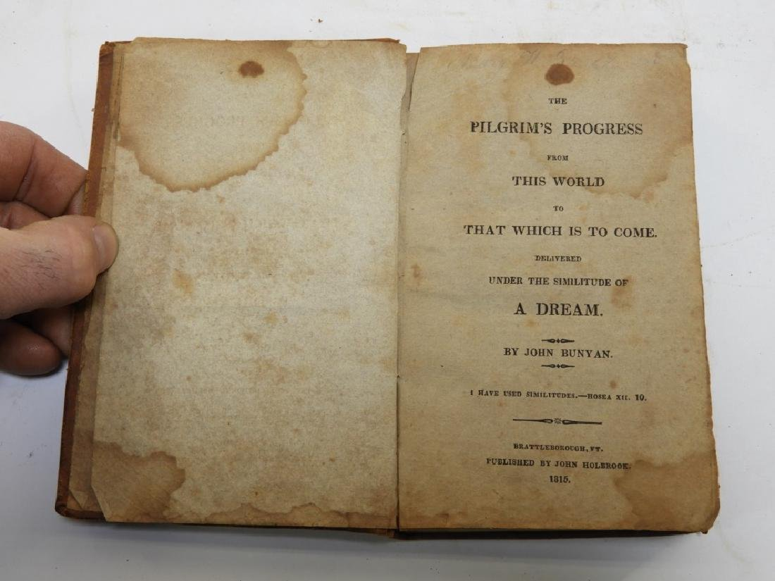 C.1815 John Bunyan Pilgrims Progress Leather Book