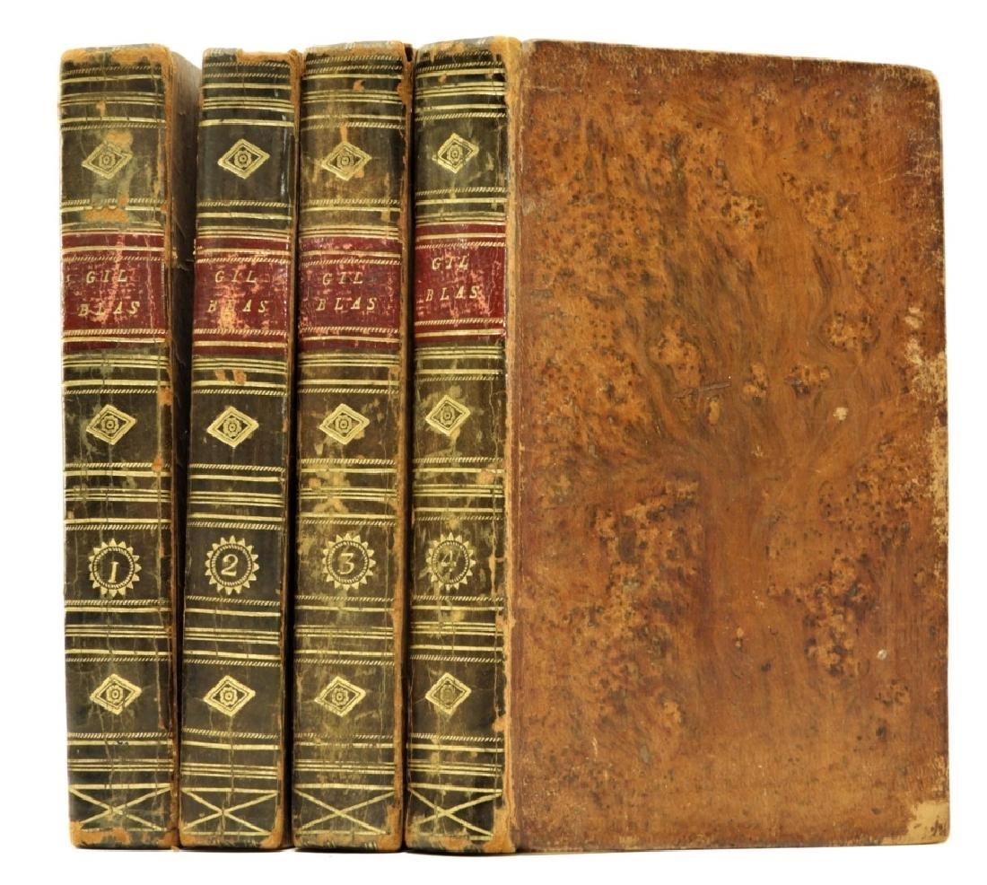 Group C.1814 Smollet Gil Blas Leather Bound Books