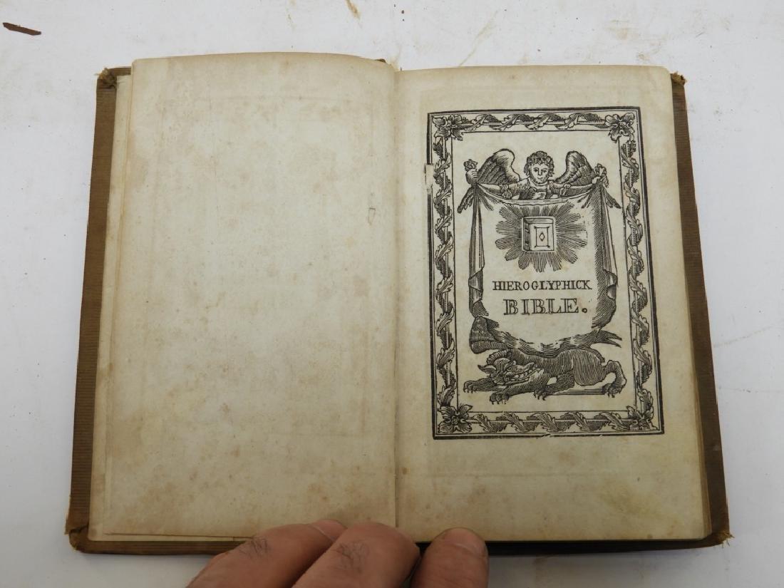 C.1841Antiqurian Engraved Hieroglyphic Bible