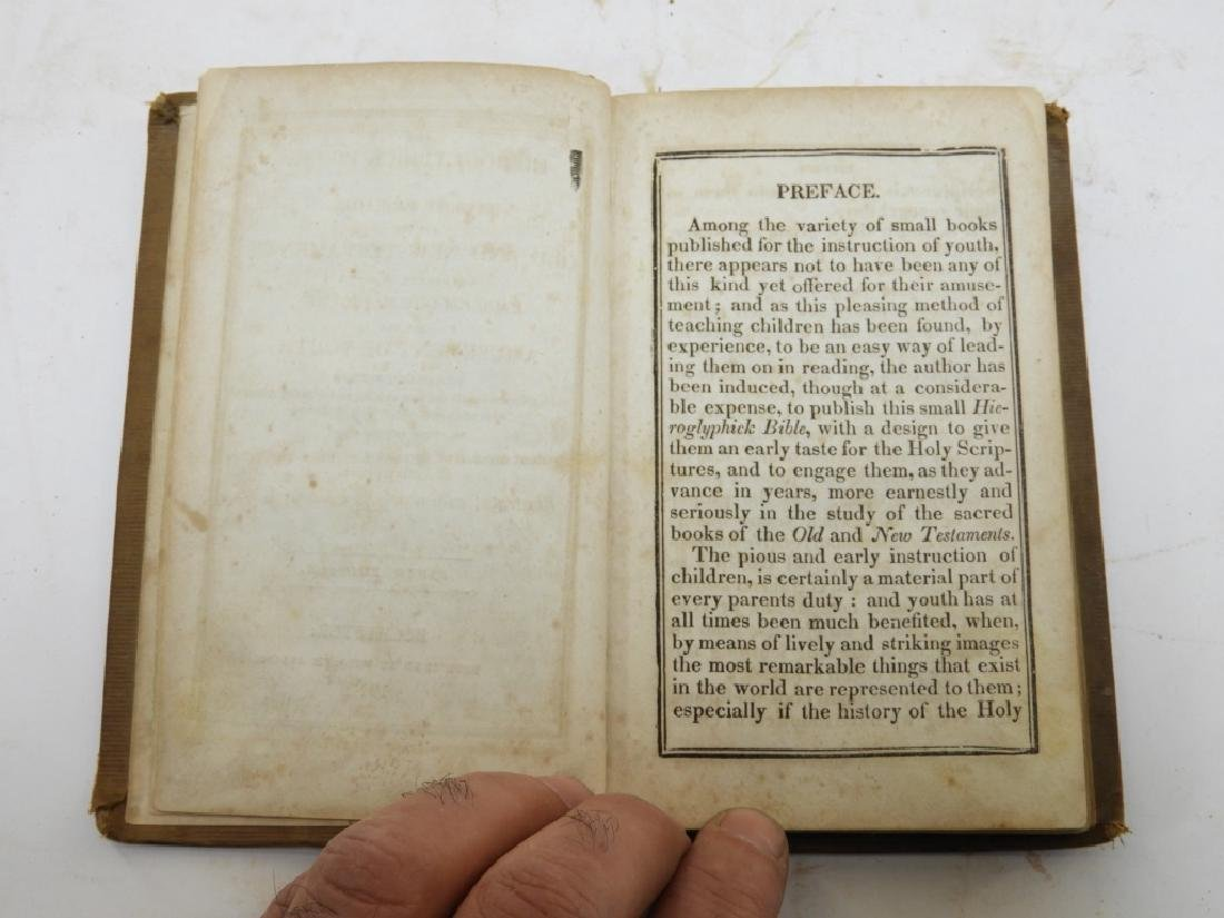 C.1841Antiqurian Engraved Hieroglyphic Bible - 3