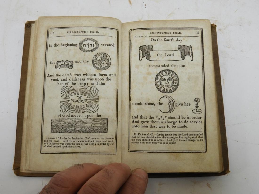 C.1841Antiqurian Engraved Hieroglyphic Bible - 5