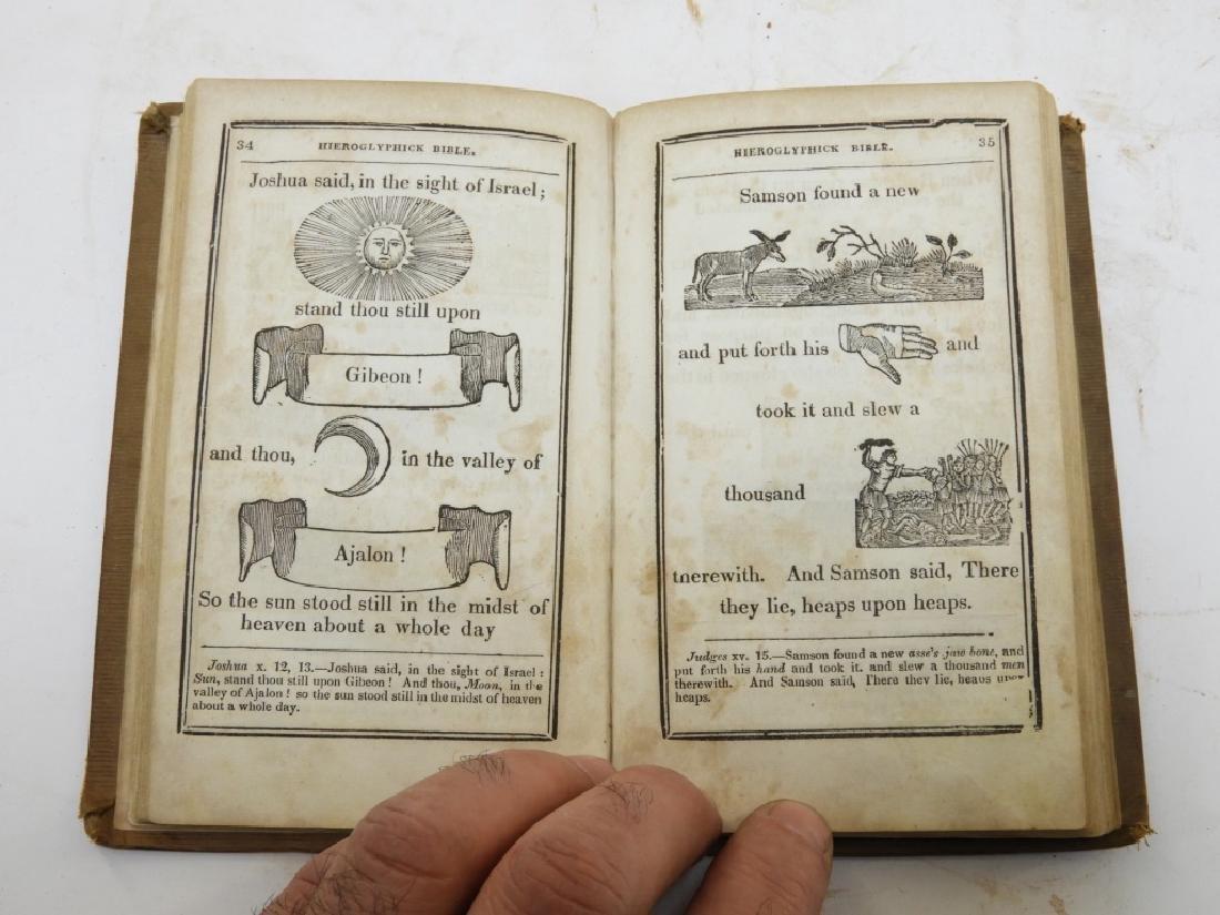 C.1841Antiqurian Engraved Hieroglyphic Bible - 6