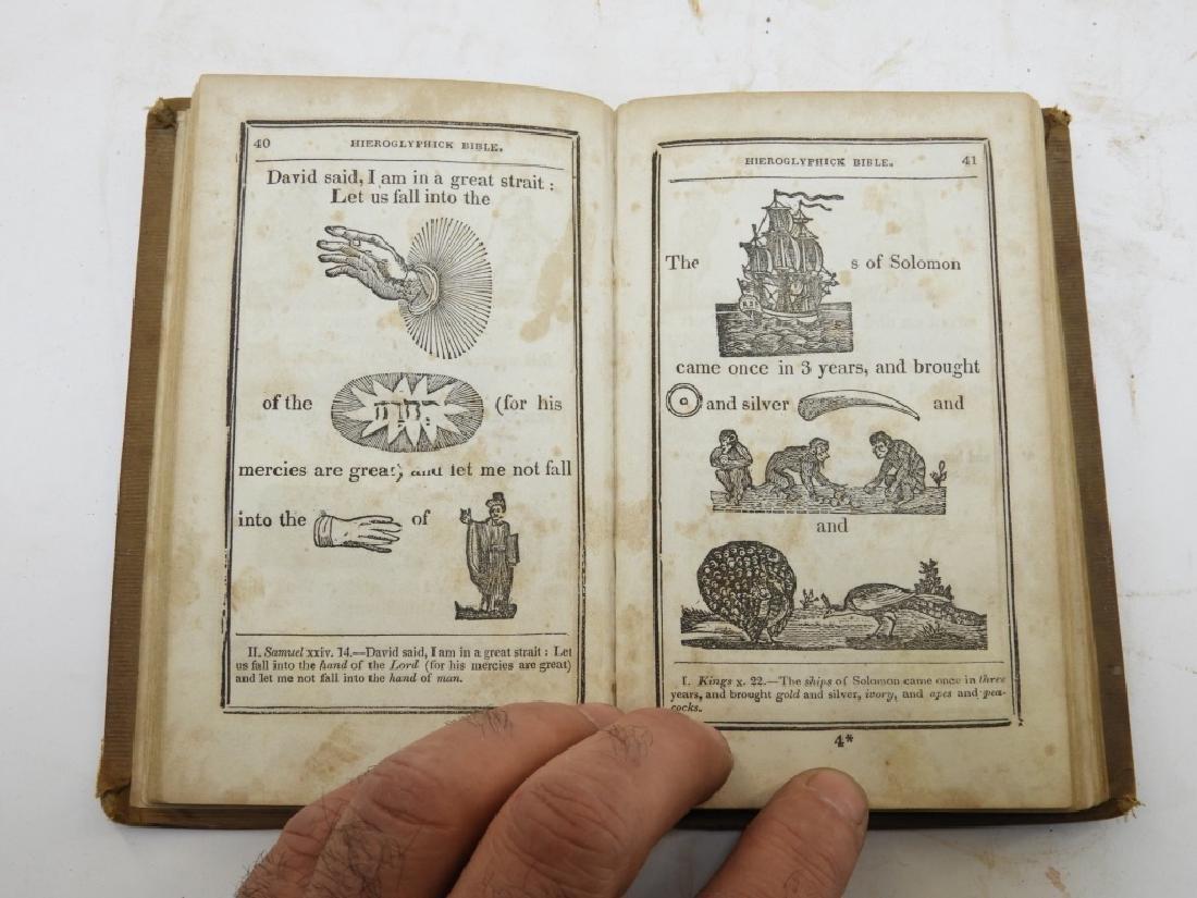 C.1841Antiqurian Engraved Hieroglyphic Bible - 7