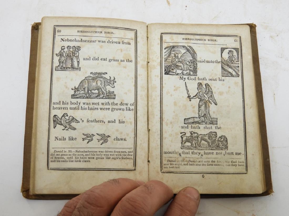 C.1841Antiqurian Engraved Hieroglyphic Bible - 8