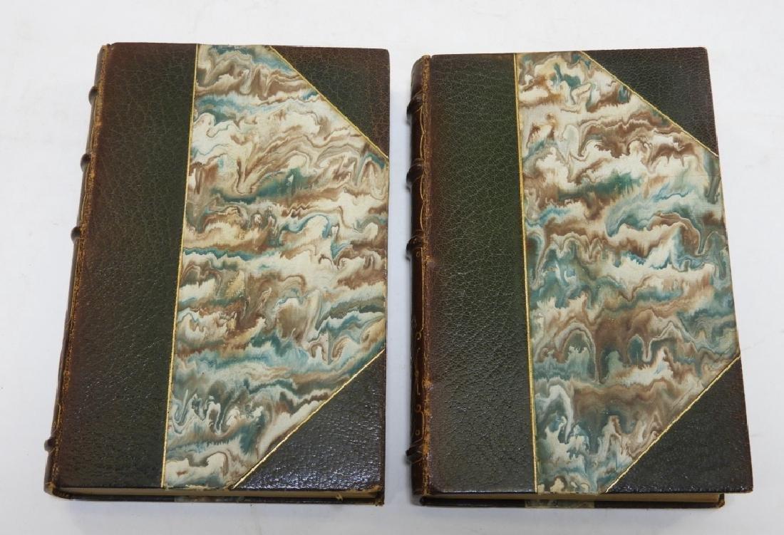 2 Volume Robert Herrick Hesperides Leather Books - 7